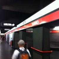 Photo taken at Metro Turro (M1) by Paolo P. on 6/29/2011