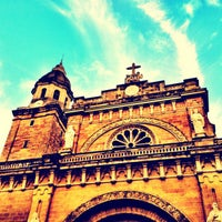 Photo taken at Cathedral-Basilica of the Immaculate Conception of Manila (Manila Cathedral) by @romainvillaroza on 1/29/2012