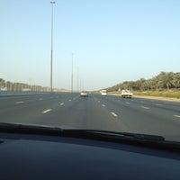 Photo taken at Sheikh Mohammed Bin Zayed Road شارع الشيخ محمد بن زايد by Marinna M. on 3/16/2012
