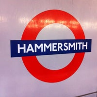 Photo taken at Hammersmith London Underground Station (District and Piccadilly lines) by Laurensa on 5/23/2012