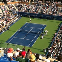 Photo taken at Court 5 - USTA Billie Jean King National Tennis Center by Fátima O. on 8/30/2012