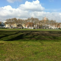 Photo taken at Vincent Square Playing Fields by Edson M. on 4/3/2012