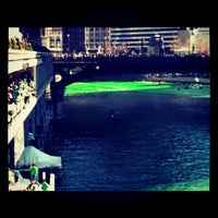 Photo taken at Chicago Riverwalk by Lady S. on 3/18/2012