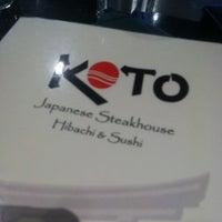 Photo taken at Koto Japanese Steak House by Dan S. on 4/8/2012