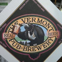 Photo taken at Vermont Pub & Brewery by Tom P. on 1/16/2012