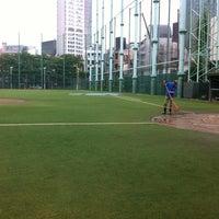 Photo taken at 青山運動場 野球場 by Yuya K. on 6/22/2012