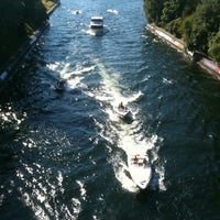 Photo taken at Montlake Bridge by Nancy V. on 8/28/2011