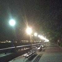 Photo taken at Hudson River Promenade by Patty A. on 4/25/2012