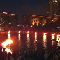 Photo taken at WaterFire Providence - Waterplace Park by Courtney M. on 7/3/2011