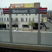 Photo taken at CTA - Belmont (Red/Brown/Purple) by Starrby W. on 3/31/2012