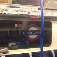 Photo taken at Arnos Grove London Underground Station by Dawn M. on 7/3/2012