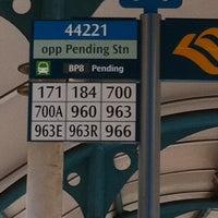 Photo taken at Bus Stop 44221 (Opp Pending Station) by Hafilah on 5/4/2011