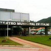 Photo taken at Teatro Municipal de Itajaí by Rafael A. on 8/5/2012