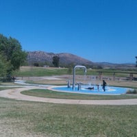 Photo taken at Lake Skinner Splash Pad by Chelsie on 6/5/2012