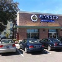 Photo taken at Manny's Mediterranean Cafe by Chris D. on 3/4/2011