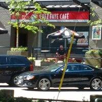 Photo taken at Chez Faye Café by Geoffrey H. on 8/16/2012