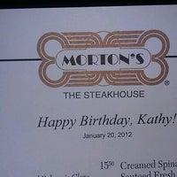 Photo taken at Morton's The Steakhouse by Kathy J. on 1/21/2012