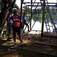 Photo taken at Situ Sawangan by Miria D. on 12/4/2011