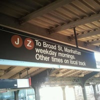 Photo taken at MTA Subway - J Train by Peter R. on 10/2/2011
