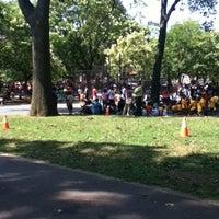 Photo taken at Paerdegat Park by Krisa J. on 8/2/2012