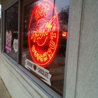 Photo taken at Krispy Kreme Doughnuts by Mike M. on 2/14/2012