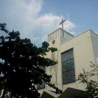 Photo taken at Gereja St Robertus Bellarminus Cililitan by agus s. on 3/25/2012