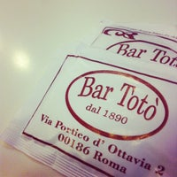 Photo taken at Bar Totò by Michael P. on 6/2/2012