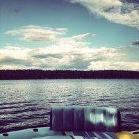 Photo taken at Highland Lake by Caroline A. on 7/5/2012