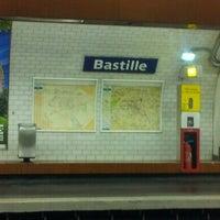 Photo taken at Métro Bastille [1,5,8] by David T. on 8/17/2012