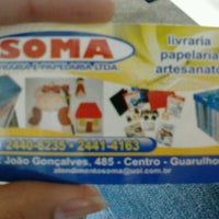 Photo taken at Soma Livraria, Papelaria e Artesanato by Alana P. on 6/4/2012