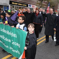 Photo taken at Jackson Heights Halloween Parade by Mike Bloomberg on 12/22/2011
