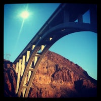Photo taken at Mike O'Callaghan-Pat Tillman Memorial Bridge by Mia R. on 3/10/2012
