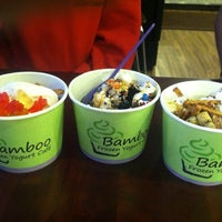Photo taken at Bamboo Frozen Yogurt Café by Marissa F. on 5/10/2012