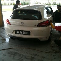 Photo taken at Meguairs car wash by Blur B. on 8/17/2011