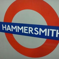 Photo taken at Hammersmith London Underground Station (District and Piccadilly lines) by Leonardo B. on 10/12/2011