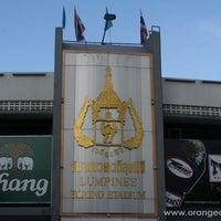 Photo taken at Lumpinee Boxing Stadium by Rembrandt Hotel Bangkok on 5/4/2012