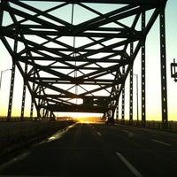 Photo taken at Piscataqua River Bridge by Meg R. on 12/31/2010