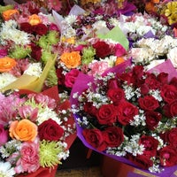 Photo taken at Dangwa Flower Market by Kikaymuch.Me C. on 4/26/2012