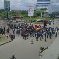 Photo taken at Flyover Urip Sumoharjo by Harry A. on 3/27/2012
