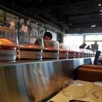 Photo taken at Blue C Sushi by Adria G. on 7/11/2012