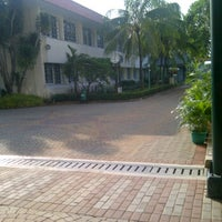 Photo taken at Jakarta International Korean School by Merryta P. on 4/15/2012