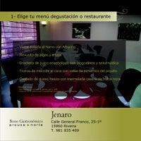 Photo taken at JENARO restaurante (Bono Gastronómico AN) by Arousa Norte M. on 12/29/2011