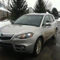 Photo taken at Suburban Acura by Sazbean W. on 2/27/2012