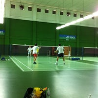 Photo taken at BJGCR Badminton Court by Ysoon N. on 4/21/2012