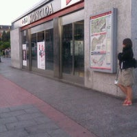 Photo taken at Metro Moncloa by Perico d. on 8/11/2011