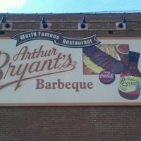 Photo taken at Arthur Bryant's Barbeque by Gregory W. on 5/23/2012