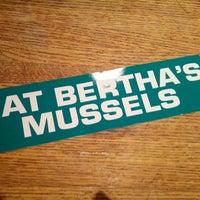 Photo taken at Bertha's by Jason S. on 7/21/2012