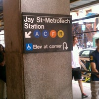 Photo taken at MTA Subway - Jay St/MetroTech (A/C/F/R) by Rob 🍃🍂😎 C. on 9/4/2012