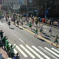 Photo taken at Davis Square by Jason L. on 3/18/2012