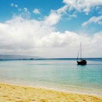 Photo taken at Waimea Bay by Jeremy K. on 5/4/2012